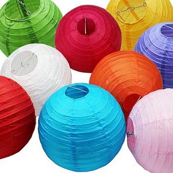 Round Chinese paper lanterns