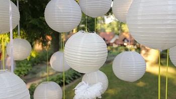 White paper Chinese lanterns