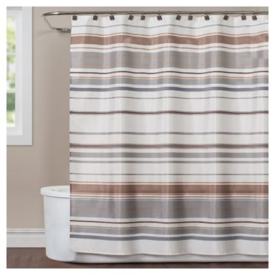 Colorware Stripe Fabric Shower Curtain